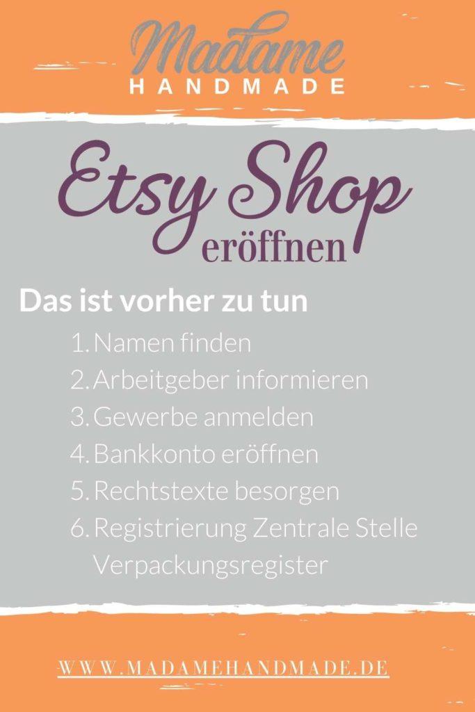Etsy Shop eröffnen - deine to-do Liste