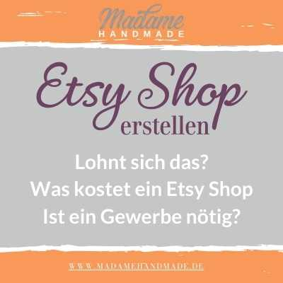 Etsy Shop erstellen brauche ich ein Gewerbe